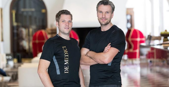 Tobias Gaßmann (Personal Trainer + Fitnessmanager De Medici Movement  Spa Club) und Christoph Urbanowicz (Inhaber und Leiter De Medici Movement  Spa Club), v. l.  © Ralf Juergens