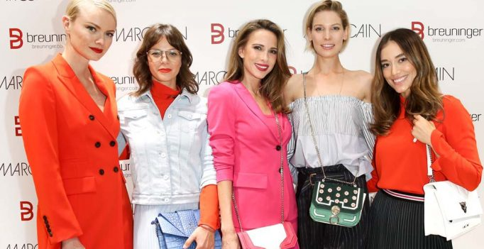 Franziska Knuppe, Jessica Schwarz, Alexandra Lapp, Sarah Brandner und Anna Sharypova, v.l.n.r. (Photo by Isa Foltin/Getty Images for Marc Cain)